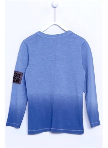 Silversun Kids Uzun Kol Baskılı Örme Tişört Bk 310526 Lacivert